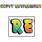 Banderole Happy Retirement, 5 po x 5 pi, 4/paquet