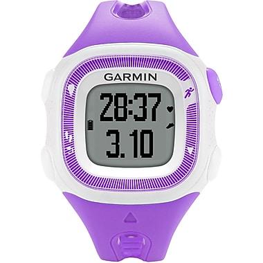 Garmin® Forerunner® 15 Small GPS Running Watch, Violet/White