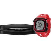 Garmin® Forerunner® 15 Large GPS Running Watch With Heart Rate Monitor, Red/Black