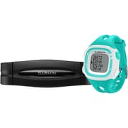 Garmin® Forerunner® 15 Large GPS Running Watch With Heart Rate Monitor, Teal/White