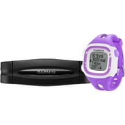 Garmin® Forerunner® 15 Large GPS Running Watch With Heart Rate Monitor, Violet/White