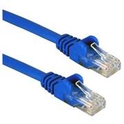 QVS CC5-03BL 3' CAT-5e Ethernet Flexible Snagless Patch Cord, Blue