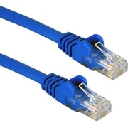 QVS 3' RJ-45 Male to Male Cat6 Ethernet Flexible Snagless Patch Cord, Blue