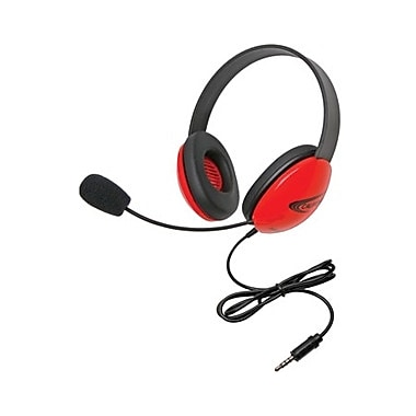 Califone 2800-RDT Stereo Headset with To Go Plug, Red