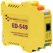 Brainboxes Ethernet to 8 Analogue Inputs + RS485 Gateway