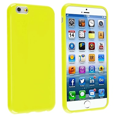 Insten TPU Case For iPhone 6/6S, Yellow Jelly (1925890)