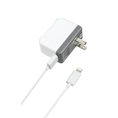 Insten® MFi Travel Charger With Power And Sync (Lightning Connector), White