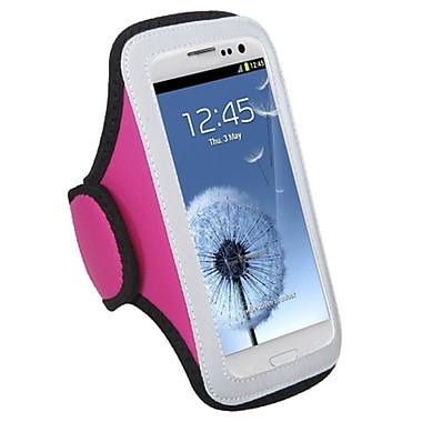 Insten® Vertical Pouch Universal Sport Armband For ZTE N9500/N9810, Hot Pink