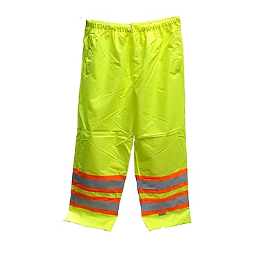 Open Road 150D Hi-Viz Waterproof Safety Waist Pants, Fluorescent Green, Large