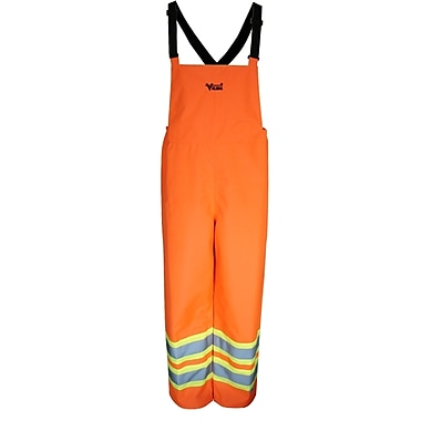 Viking Handyman 300D Waterproof Safety Bib Pants, Fluorescent Orange, Medium