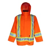 Viking – Vestes de sécurité imperméables Journeyman 300D professionnelles, orange fluorescent