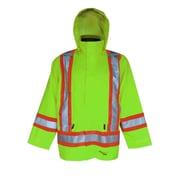 Viking Professional Journeyman 300D Waterproof Safety Rain Jackets, Fluorescent Green