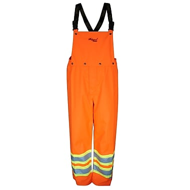 Viking Professional Journeyman 300D Waterproof Safety Detachable Bib Pants, Fluorescent Orange, 2X-Large