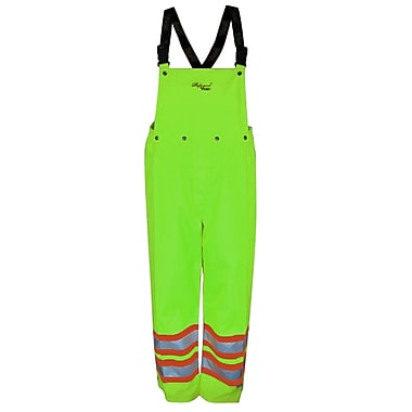 Viking Professional Journeyman 300D Waterproof Safety Detachable Bib Pants, Fluorescent Green, Small