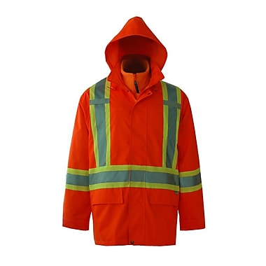 Viking – Veste de sécurité imperméable 3-en-1 Journeyman 300D, orange fluorescent, 3X-Grand