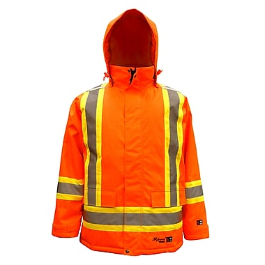 Viking – Parka de sécurité isolée imperméable Freezer 300D professionnel, orange fluorescent, grand