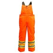 Viking Professional Freezer 300D Waterproof Insulated Safety Bib Pant, Fluorescent Orange
