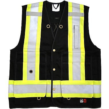 Open Road FR Surveyor Safety Vest, Black, Small