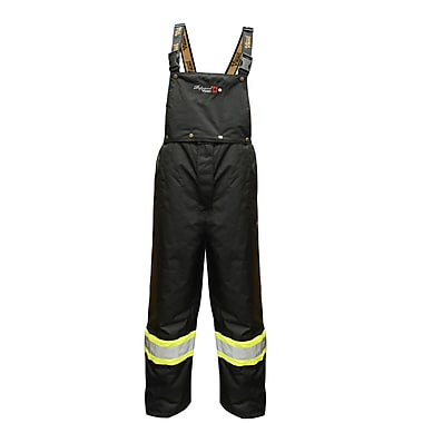 Viking Professional Journeyman 300D FR Waterproof Insulated Safety Bib Pant, Black, Small