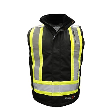 Viking Professional Journeyman 300D FR Insulated Surveyor Safety Vest, Black, Large