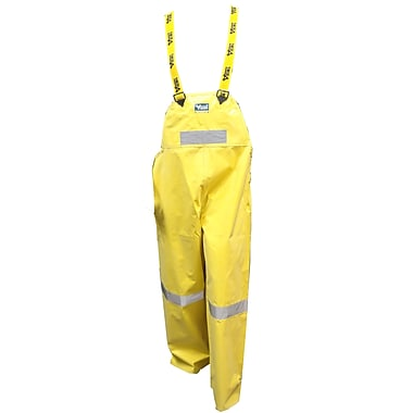Viking Miner 49er Chemical-Resistant Neoprene Waterproof Mining Bib Pants, Yellow