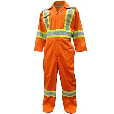 Viking CSA Striped Safety Coveralls, Orange, Small