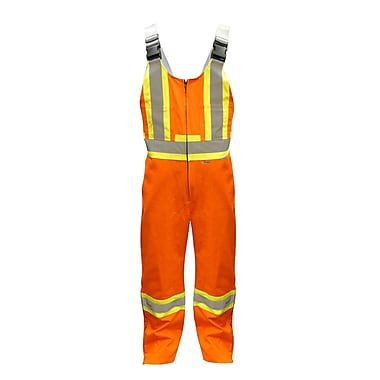 Viking CSA Striped Safety Overalls, Orange, 3X-Large