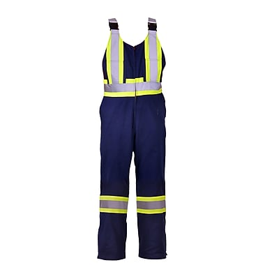 Viking CSA Striped Safety Overalls, Navy, Small
