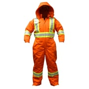 Viking CSA Striped Insulated Safety Coveralls, Orange