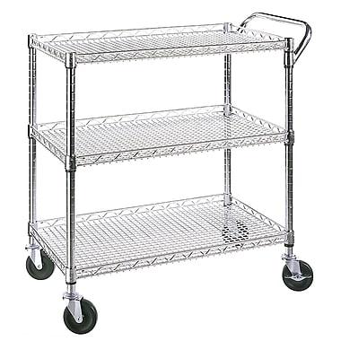 Seville Classics 3-Shelf Ultra Zinc Commercial Utility Cart
