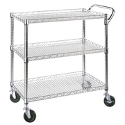 Seville Classics 3-Shelf Ultra Zinc Commercial Utility Cart