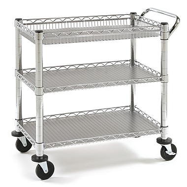 Seville Classics Heavy-Duty Utility Cart with Polypropylene Boards