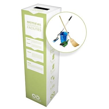 TerraCycle® – Boîte Zéro Déchet pour fournitures de nettoyage, 10 po x 10 po x 18 po, moyenne