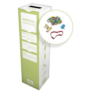 TerraCycle® Clips/Tacks and Rubber Bands Zero Waste Box, 11