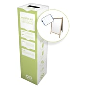 "TerraCycle Easels and Dry-Erase Zero Waste Box, 11"" x 11"" x 40"", Medium"
