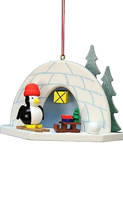 Alexander Taron Christian Ulbricht Igloo Penguin Ornament WYF078277107997