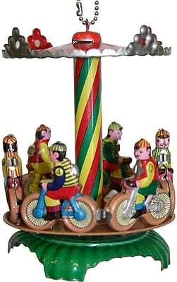 Alexander Taron Collectible Bike Carousel Tin Ornament