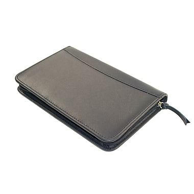 Royce Leather Executive Writing Padfolio, Green, Silver Foil Stamping, 3 Initials