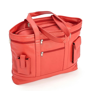 Royce Leather – Sac fourre-tout professionnel, rouge, estampage, nom complet