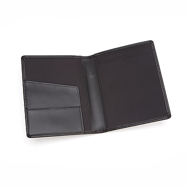 Royce Leather Prescription Pad Holder, Black, Silver Foil Stamping, 3 Initials