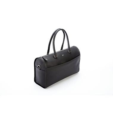 Royce Leather® RFID Blocking Saffiano Leather Carry On Travel Duffle Barrel Luggage Bag, Black