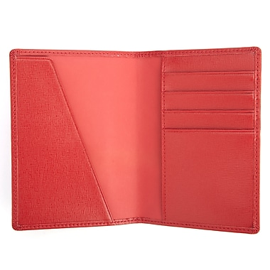 Royce Leather® RFID Blocking Passport Document Wallet, Red