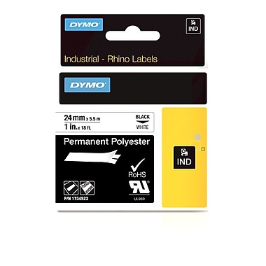Dymo® Rhino™ Industrial Permanent Poly Adhesive Labels, 1