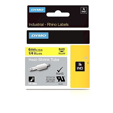 Dymo® Rhino™ Industrial Heat Shrink Cable Labels, 1/4