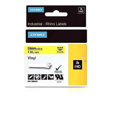 Dymo® - Étiquettes adhésives Rhino™ Industrial en vinyle, 1/2 po x 18 pi, impression blanche sur brun