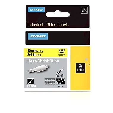 Dymo® – Tube de thermo-rétraction Rhino™ industriel, 3/4 po x 5 pi, jaune
