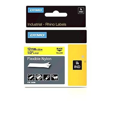 Dymo® – Étiquettes Rhino™ industrielles, nylon souple de 1/2 po, jaune