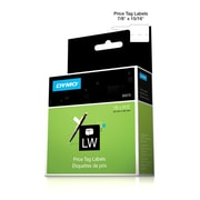 """Dymo® LW Label Writer Self-Adhesive Price Tag Labels, 87/100"""" x 2"""", White, 400 Labels"""