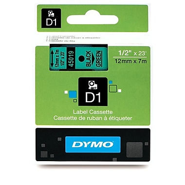 Dymo® D1 Permanent Polyester Tapes, 1/2