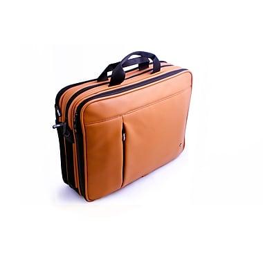 PKG – Étui de transport universel « classique » pour ordinateur portatif, faux cuir de vache, caramel
